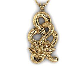 3D Snake Necklace