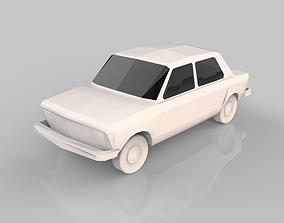 3D asset Low Poly Car 15 Model