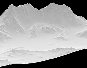 3D model Sculpted Mountain VR ready