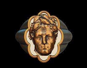 3D printable model Cesar bronze silver ring