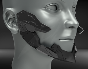 Cyborg Jaw Armor V2 3D print model