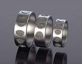 3D printable model Lunar phase Ring