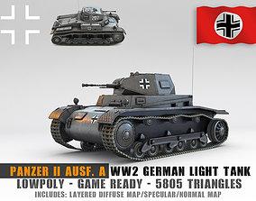 3D asset Low Poly SdKfz 121 Panzer II Ausf A