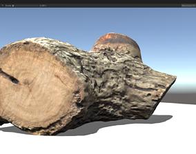 3D model low-poly Cut Wood