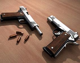 Realistic M1911 Pistol 3D