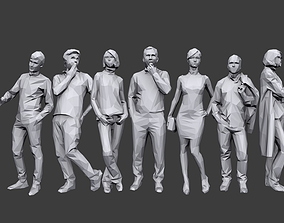 3D model realtime Lowpoly People Casual Pack