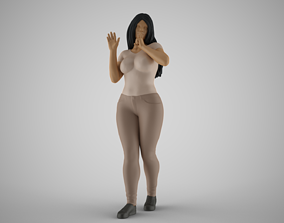 3D printable model Woman Quiet Goodbye