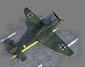 3D asset WWII Germanic Ju87 Stuka Dive bomber