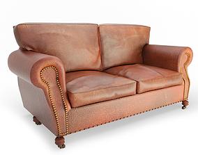 3D model Vintage Leather Sofa