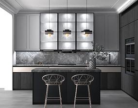 3D Modern Kitchen Full Furniture Scene