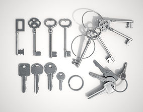 3D model Set Of New and Old Keys