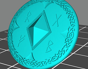 Wolf marine style viking storm shield 3D print model 2