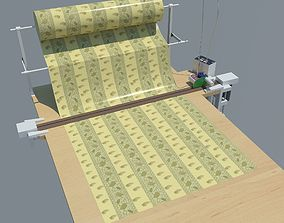 3D model Industrial table for cutting fabrics