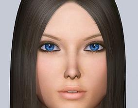 3d model Jana rigged
