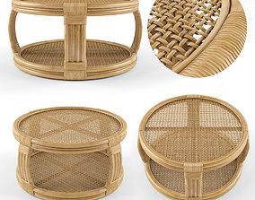 Montego Rattan Coffee Table 3D model