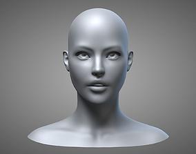 3D Female Head 3