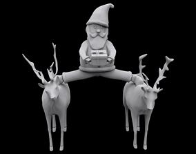 3D printable model man Santa epic split