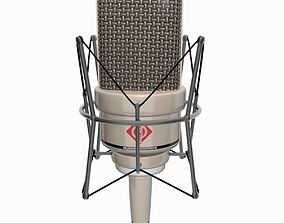 3D asset Vintage Mounted Microphone