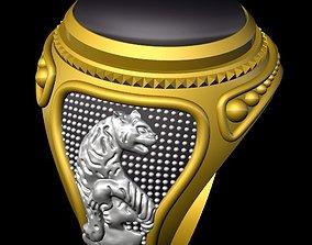 3D print model tiger unique both side ring