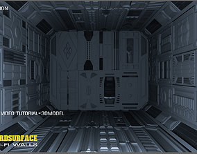 3D Sci-Fi walls KitBash Pack 50 vol 01