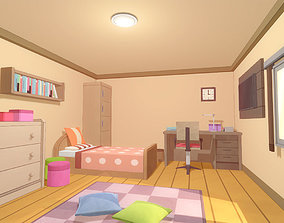 Anime Rooms - Game Props 3D asset