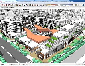 Sketchup Commercial and office complex B5 3D model