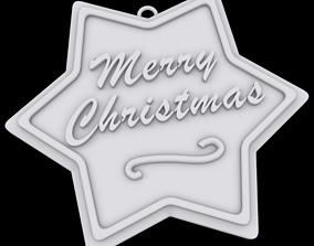 Merry Christmas ornament 3D printable model