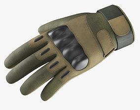 3D asset Army Gloves