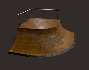 Skate ramp9 3D asset