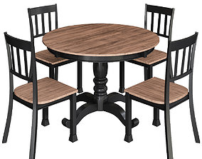 low-poly Hekman Homestead Round Pedestal Dining Table 3d