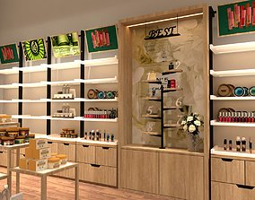 animated refrigerator shop design 3d model