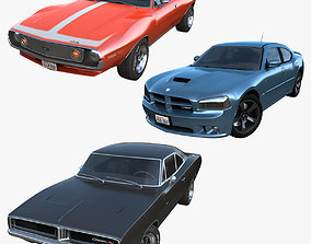 3D American muscle cars