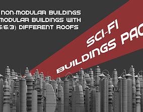 3D Sci-fi Buildings Pack