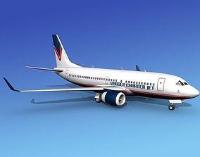 3D model Boeing 737-700ER Vasser Charter Jet