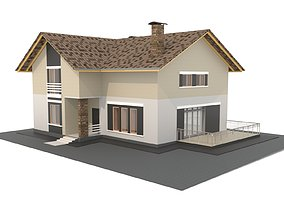 3D Private house in Revit