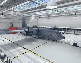 3D asset Hangar VR AR Game Rady