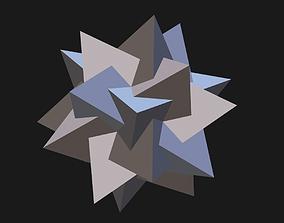 3D print model 5 tetrahedron star shaped icosahedron