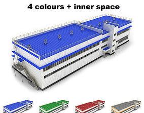 Medium industrial building 34 3D
