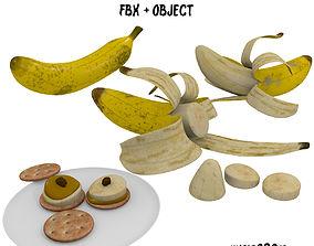Banana Snack FBX OBJ 3D