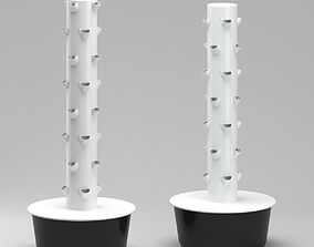 Future Growing Garden Plant Tower 3D