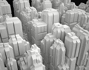 3D asset Cityscape 1 Building Road Futuristic