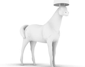 horse lamp 3D printable model