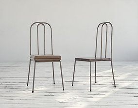 Brown Metal Chairs 3D