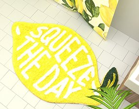 Squeeze The Day Bath Mat Urban Outfitters 3D model