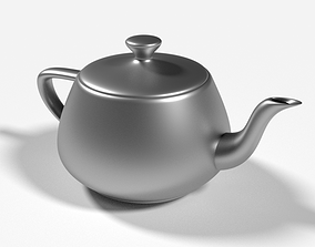 3D model low-poly Teapot