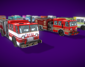 3D model Truck Fire