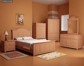 3D asset Bedroom Furniture 18 Set