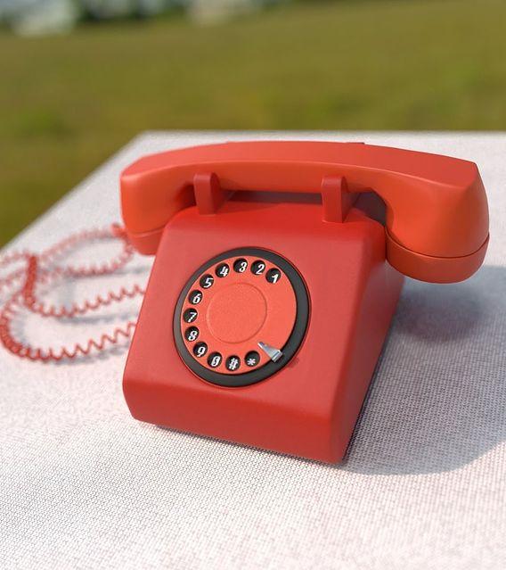 Tele- Old retro Telephone