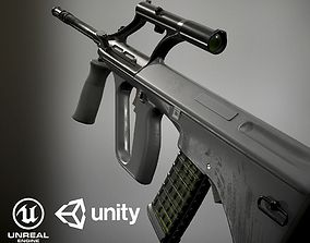 Steyr Aug PBR 3D asset game-ready