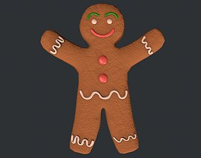 3D asset Gingerbread Man - Cookie